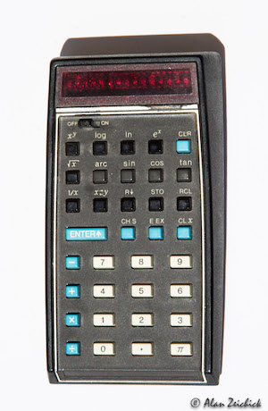 HP-35 slide rule calculator