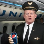 Sean Spicer with Pepsi
